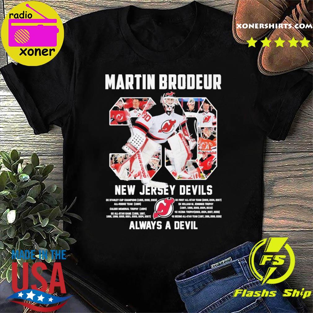 Official 30 Martin Brodeur New Jersey Devils Always a devil shirt
