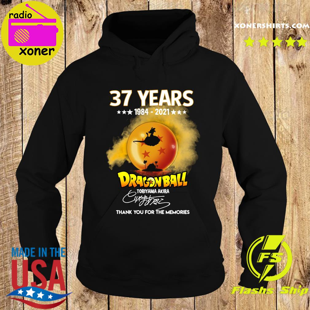 Official 37 Years of 1984 2021 Dragon Ball toriyama Akira signature thank you for the memories s Hoodie