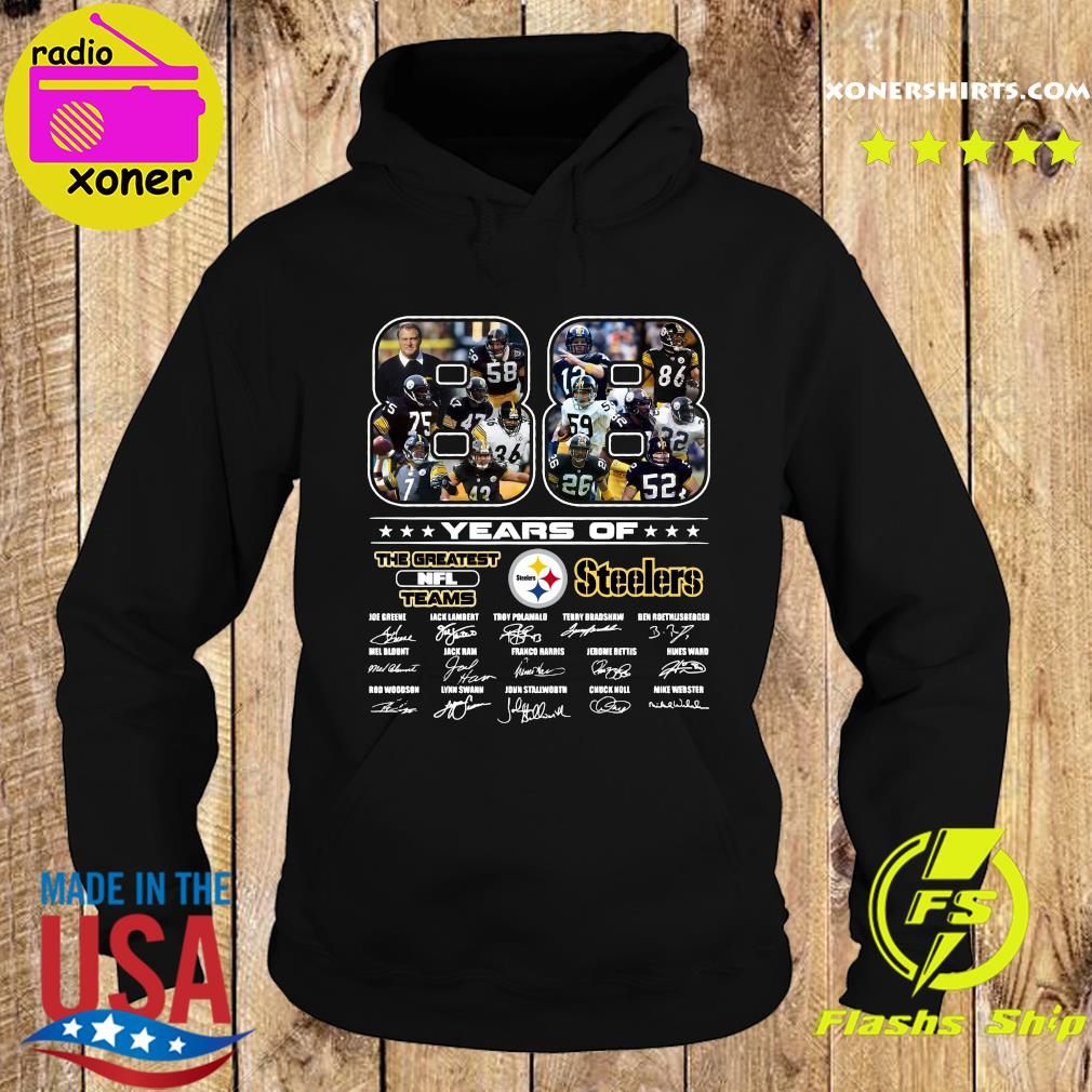 Official 88 Years Of The Greatest Nfl Teams Pittsburgh Steelers Signatures Shirt Hoodie