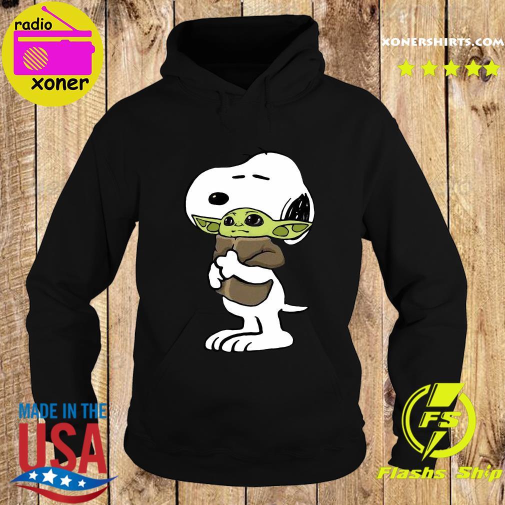 Official Snoopy Hug Star Wars Baby Yoda 2021 Shirt Hoodie
