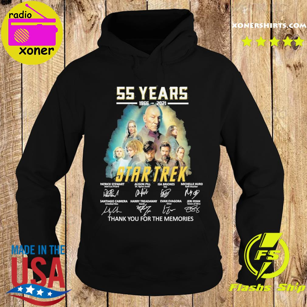 Official The Star Trek Movie characters 55 years 1966 2021 signature thank you for the memories s Hoodie