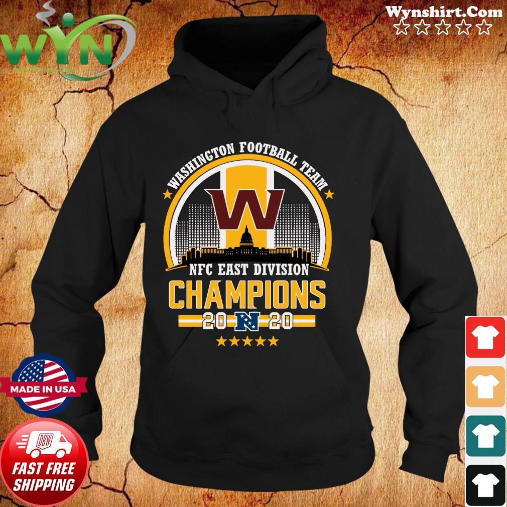 Official The Washington Football Team Nfc East Division Champions 2020 Shirt Hoodie