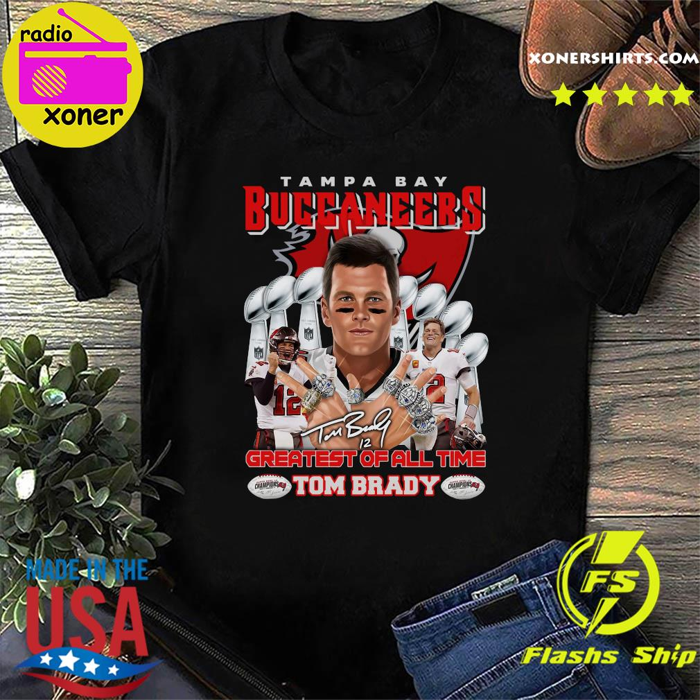 Official Tom Brady Greatest Of All Time Tampa Bay Buccaneers Shirt