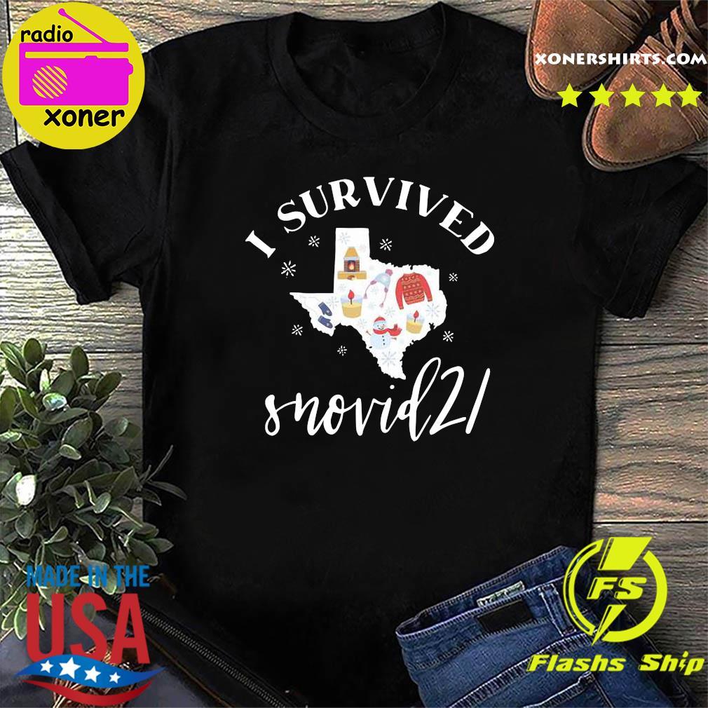 Survived Snovid 21 Texas Strong Shirt, Snow Storm 2021, Winter Texas Shirt