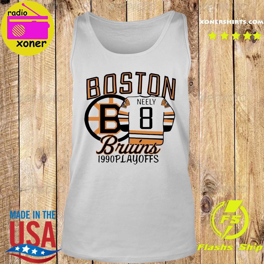 The Bruins 1990 Playoffs Boston 8 Neely Shirt Tank top