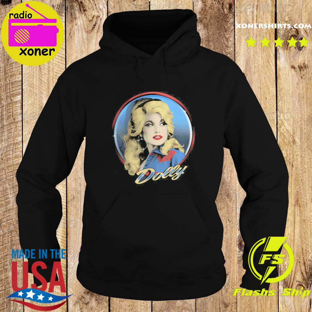 Dolly Parton Western Shirt Hoodie