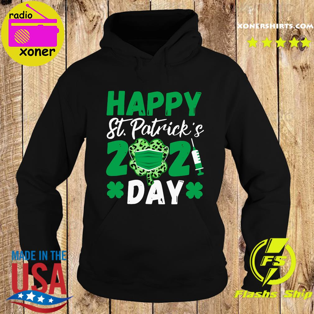 Happy St Patrick's Day 2021 Shamrock Face Mask With Covid-19 Shirt Hoodie