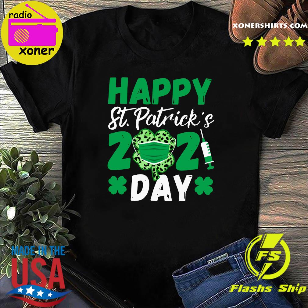 Happy St Patrick's Day 2021 Shamrock Face Mask With Covid-19 Shirt