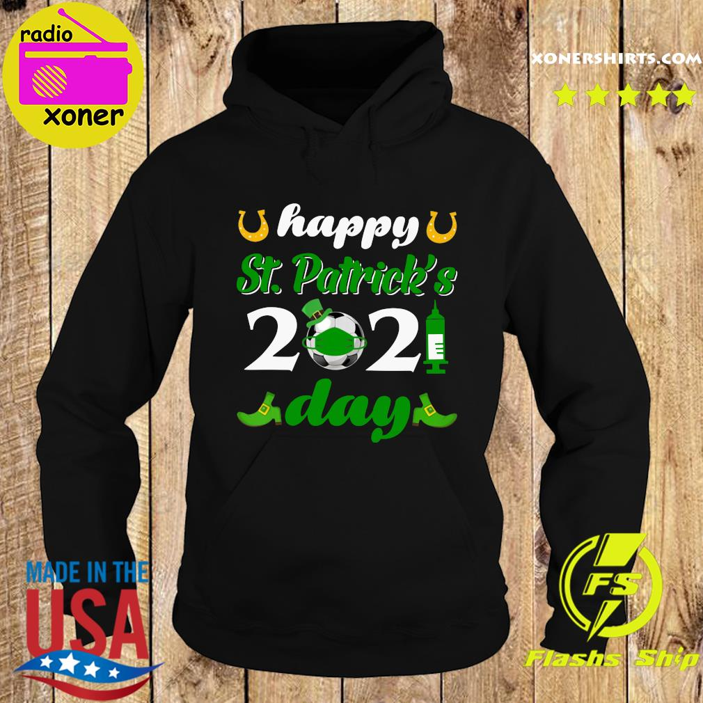 Happy St Patrick's Day 2021 Soccer Face Mask With Covid-19 Shirt Hoodie