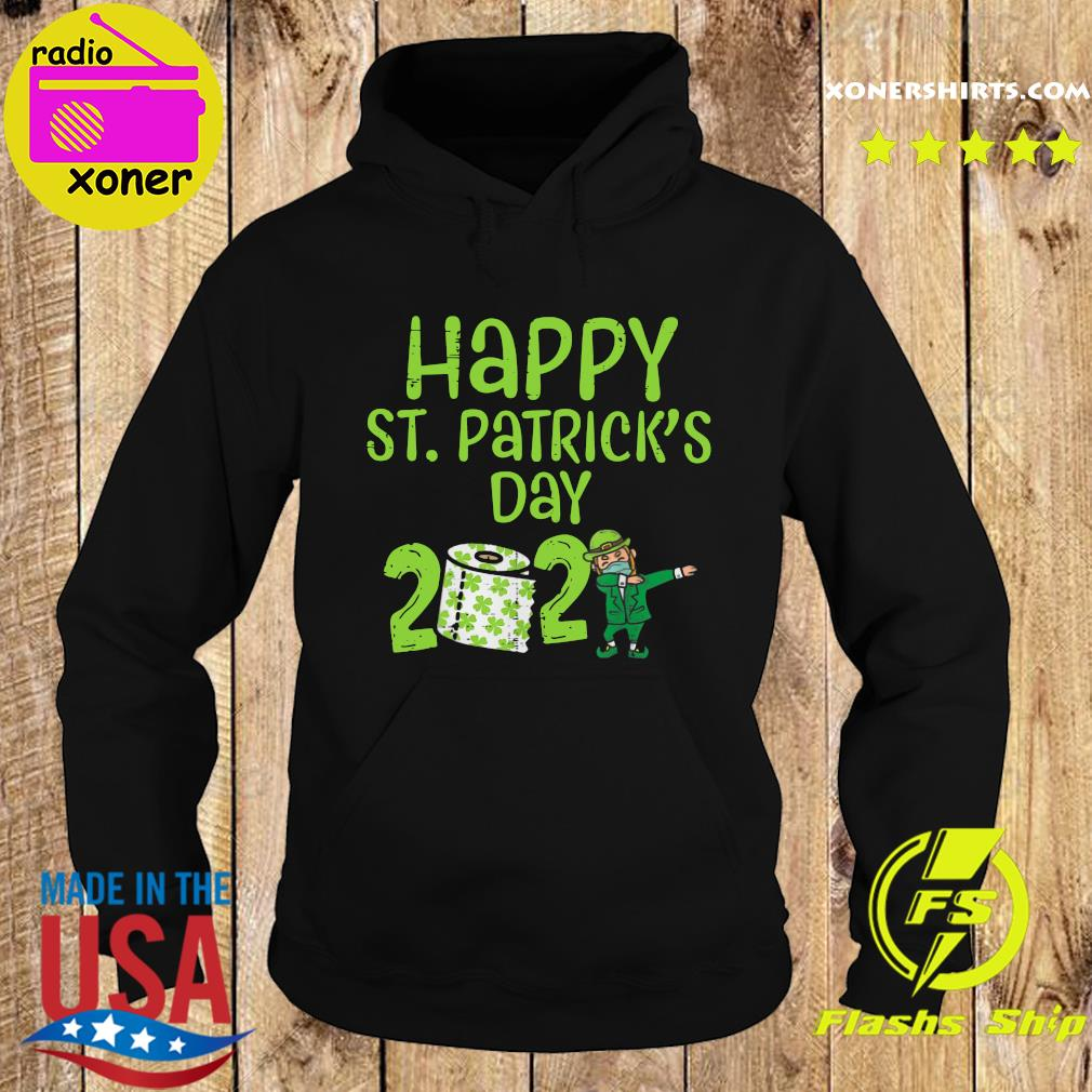 Happy St Patrick's Day 2021 Toilet Paper With Elf Face Mask Dabbing Shirt Hoodie