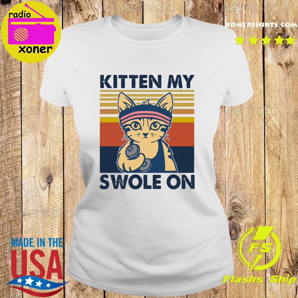 Official Cat Kitten My Swole On Vintage Shirt Ladies tee