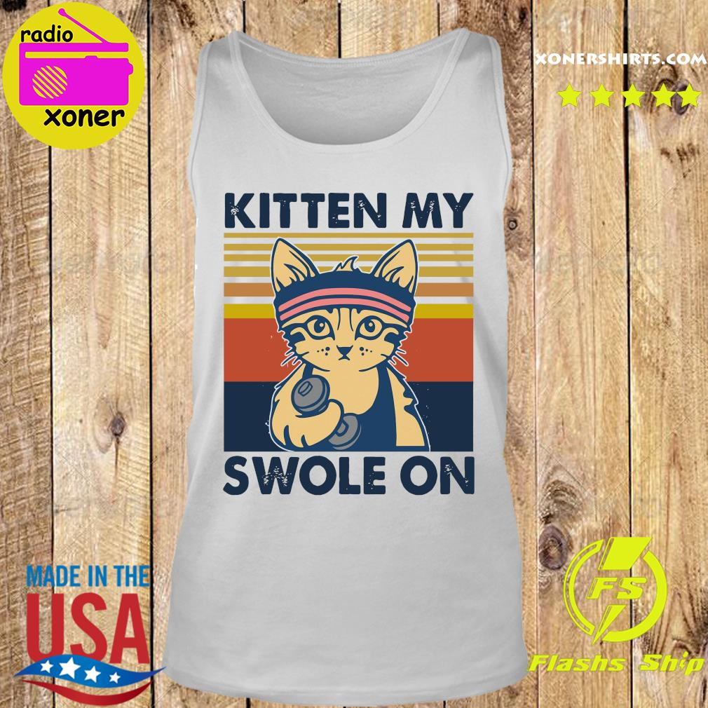 Official Cat Kitten My Swole On Vintage Shirt Tank top
