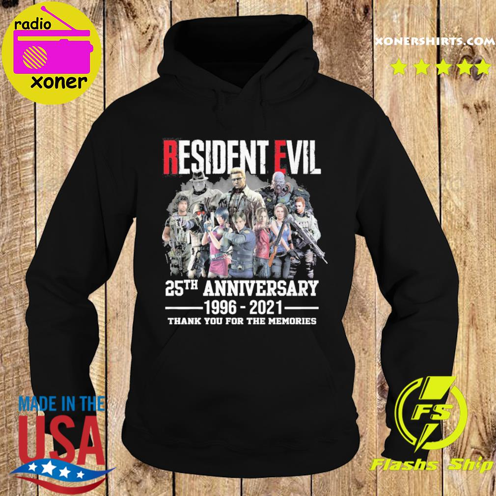 Official The Resident Evil Movie 25th Anniversary 1996 2021 Thanks For The Memories Shirt Hoodie