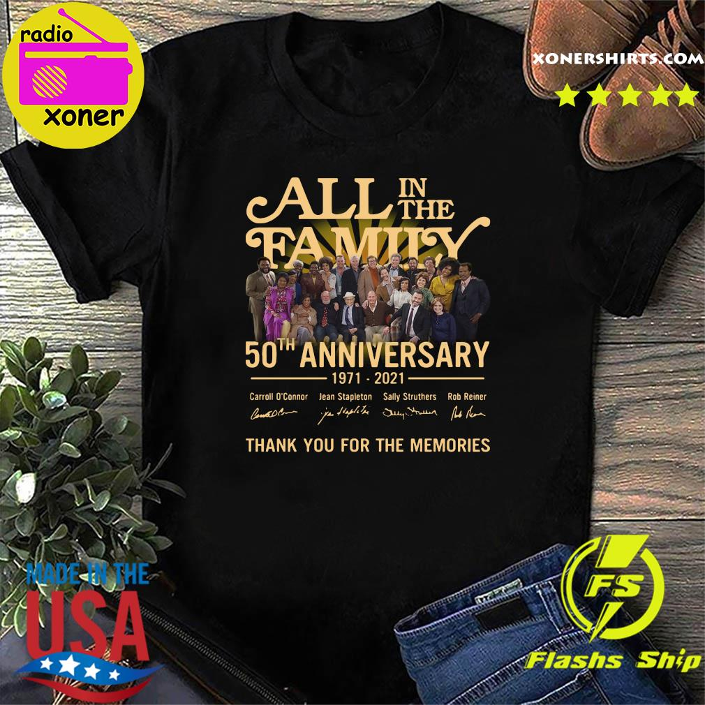 Thank You For The Memories Of All In The Family 50th Anniversary 1971 2021 Signatures Shirt