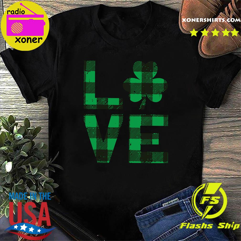 The Love With Happy St Patrick's Day 2021 Plaid Shirt