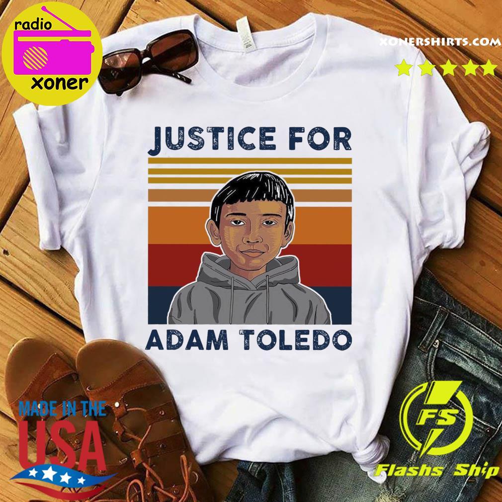Official Vintage Justice Adam Toledo - Rip Adam Toledo Shirt