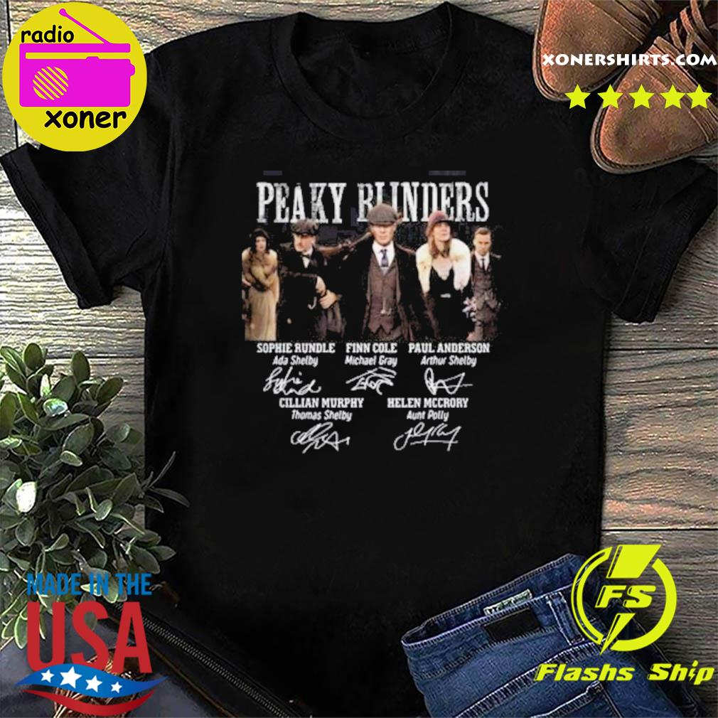 The Peaky Runders RIP Helen Mccrory 52 Year Signatures shirt