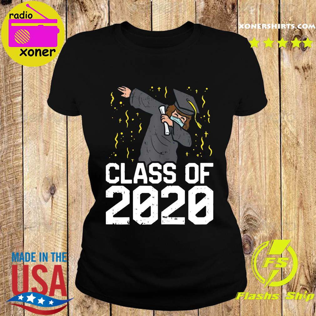 Dabbing Graduate Class Of 2020 Funny Social Distancing Shirt Ladies tee