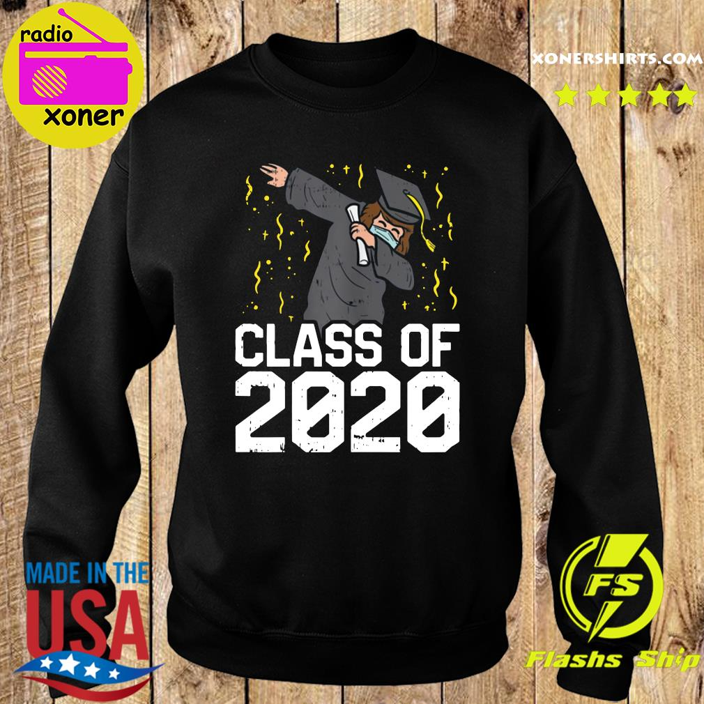 Dabbing Graduate Class Of 2020 Funny Social Distancing Shirt Sweater