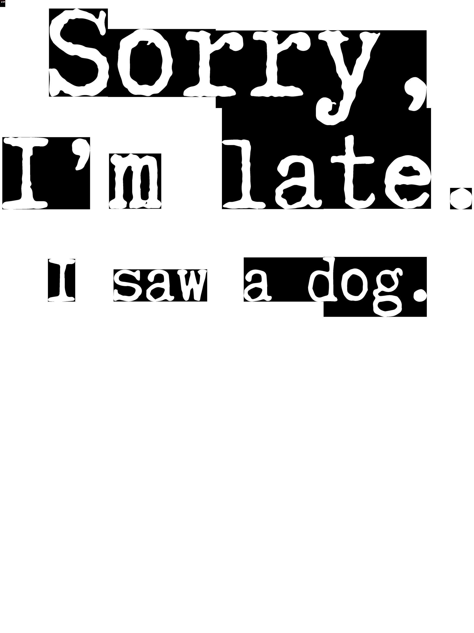 USPS Postal worker 2020 quarantined s Sorry I'm late i saw my dog Gift T-Shirt