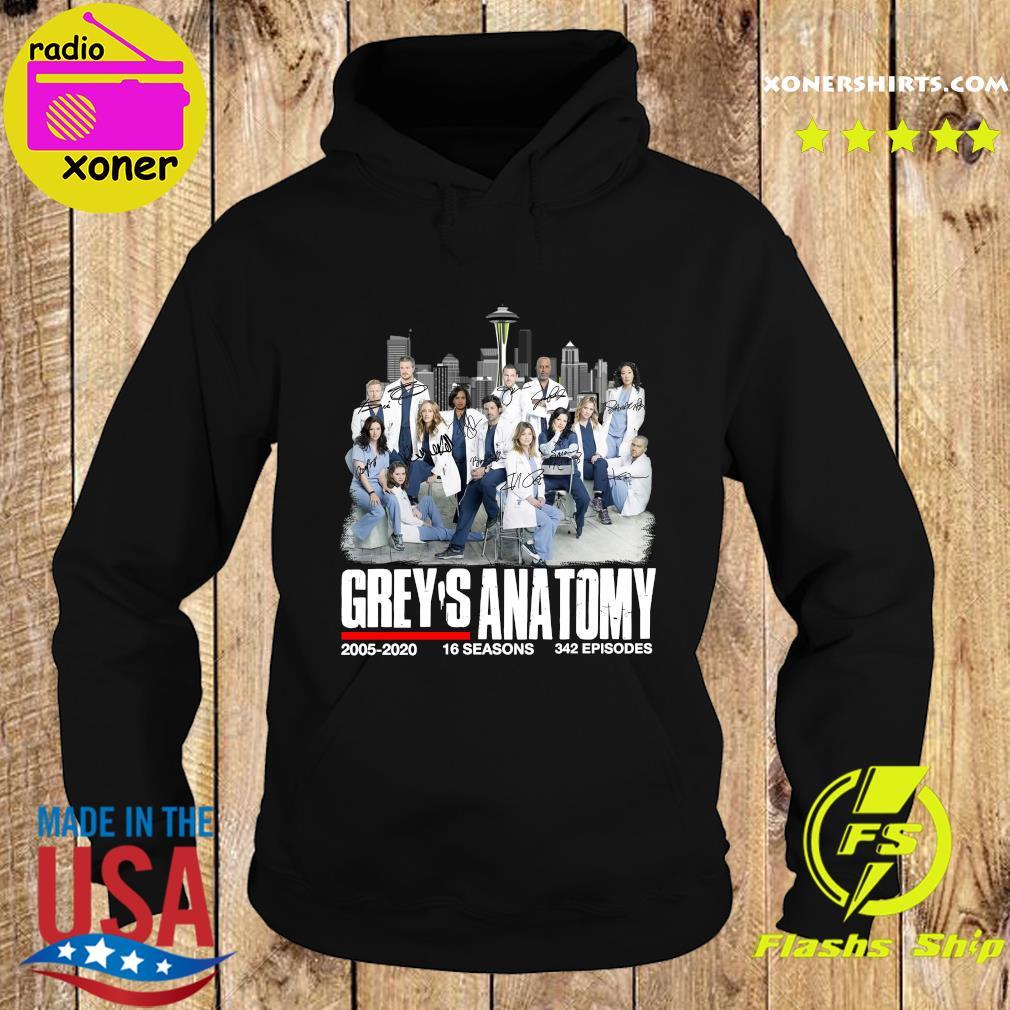 Grey's Anatomy 2005 2020 16 Seasons 342 Episodes Signatures Shirt Hoodie
