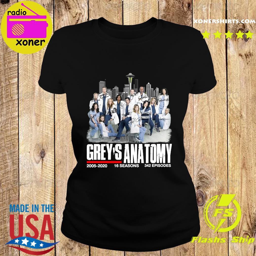Grey's Anatomy 2005 2020 16 Seasons 342 Episodes Signatures Shirt Ladies tee