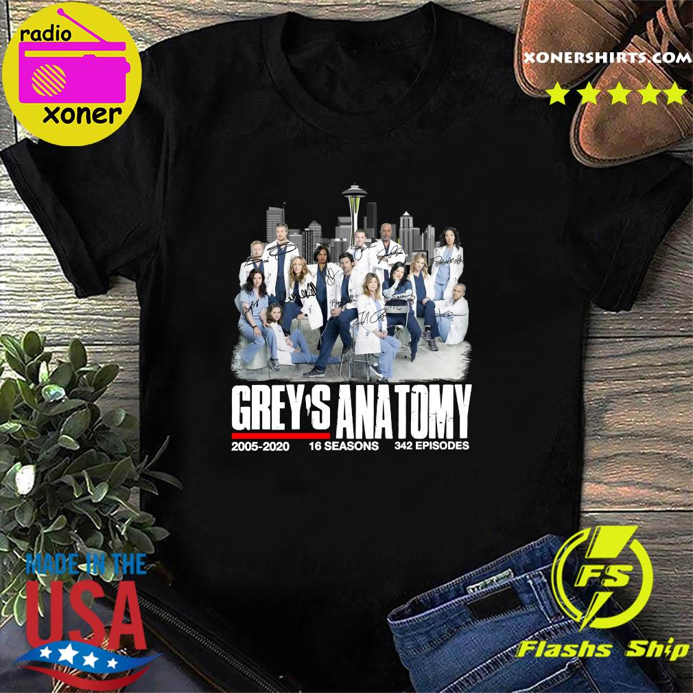 Grey's Anatomy 2005 2020 16 Seasons 342 Episodes Signatures Shirt