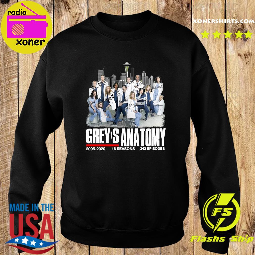 Grey's Anatomy 2005 2020 16 Seasons 342 Episodes Signatures Shirt Sweater