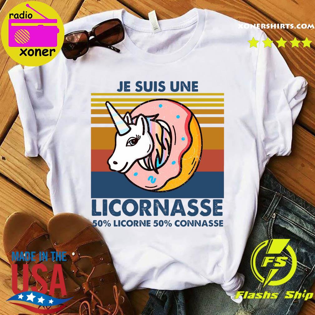 Je Suis Une Licornasse 50 Licorne 50 Connasse Vintage Retro Shirt