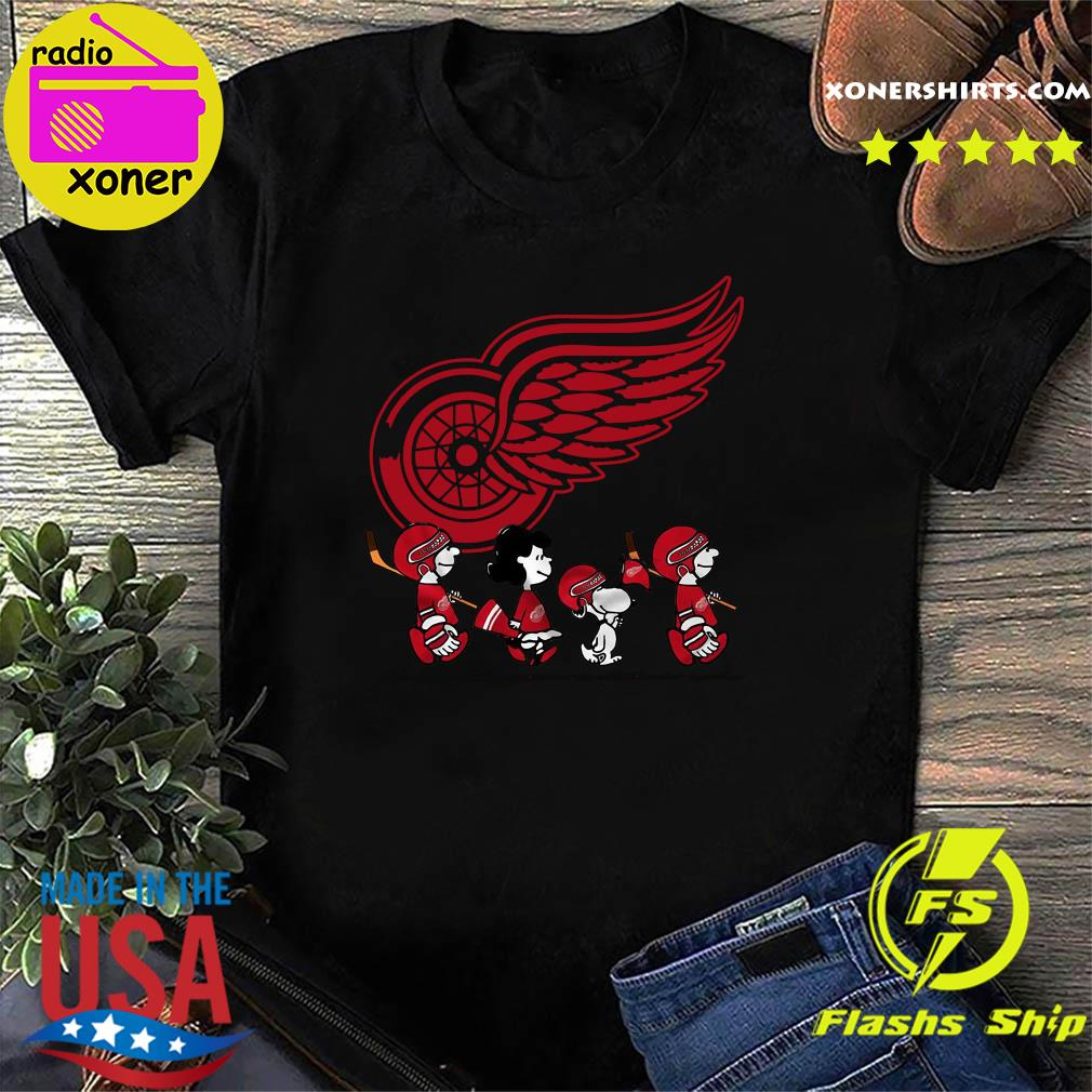 The Peanut Characters Detroit Red Wings Shirt