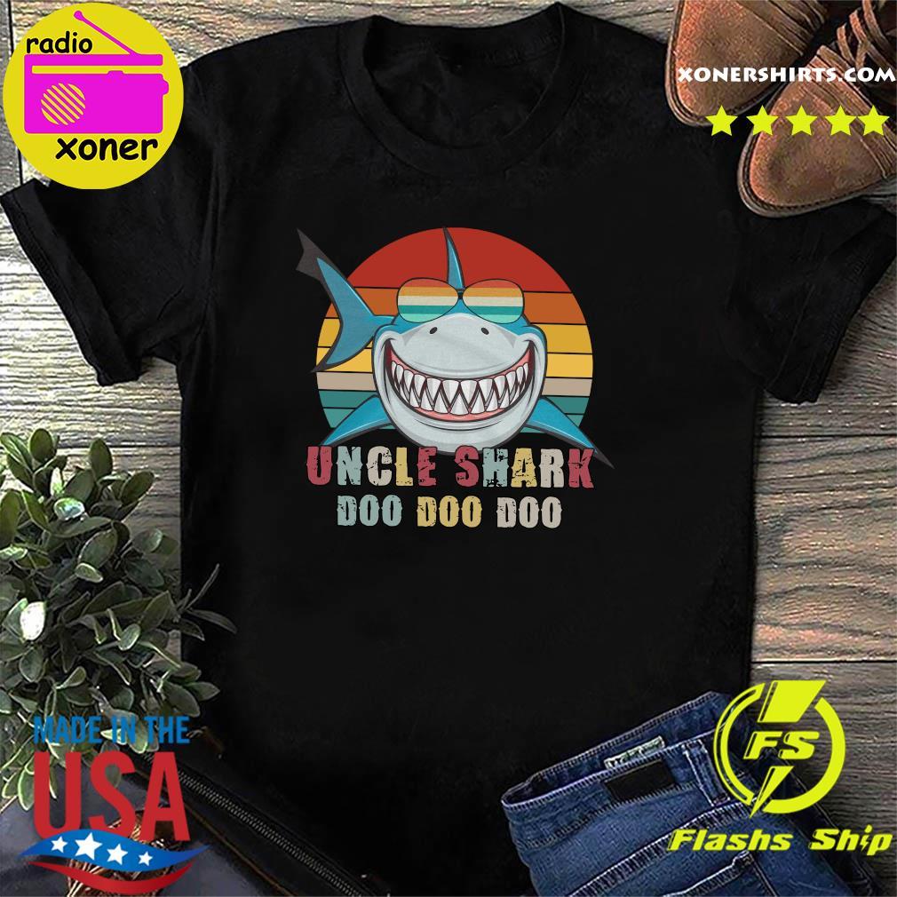 Uncle Shark Doo Doo Doo Doo Vintage Retro Shirt