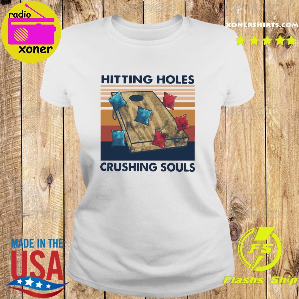 Hittin Holes Crushing Souls Vintage Retro Shirt Ladies tee