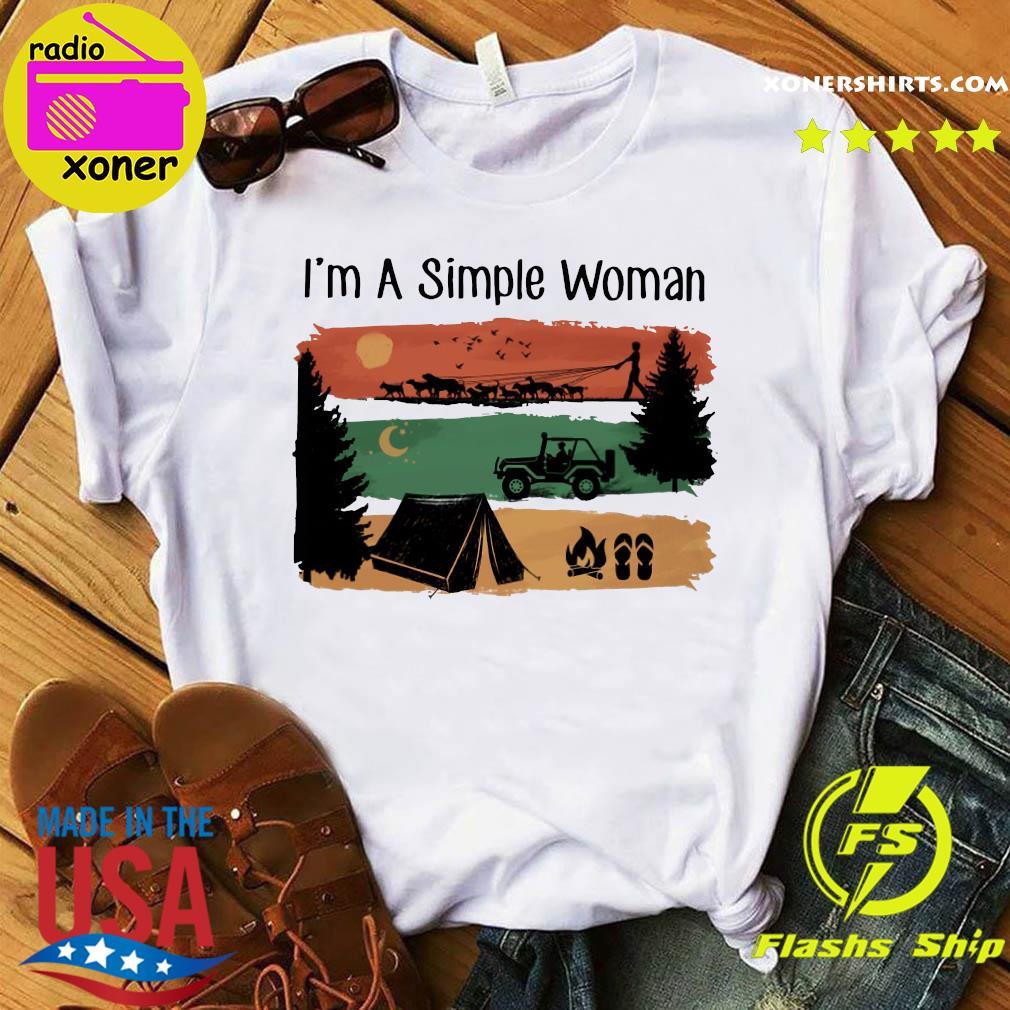 I'm A Simple Woman Love camping retro vintage shirt