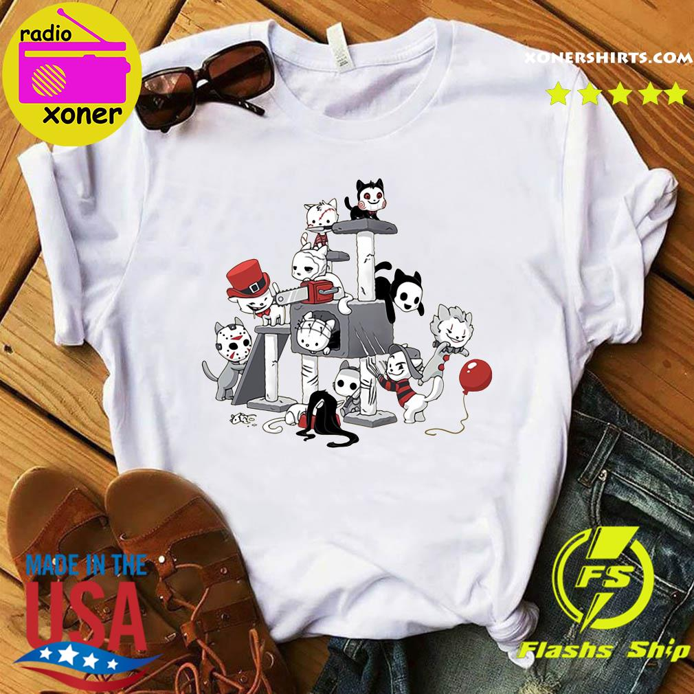 Park Cats Scariest Horror Movie Characters Halloween shirt
