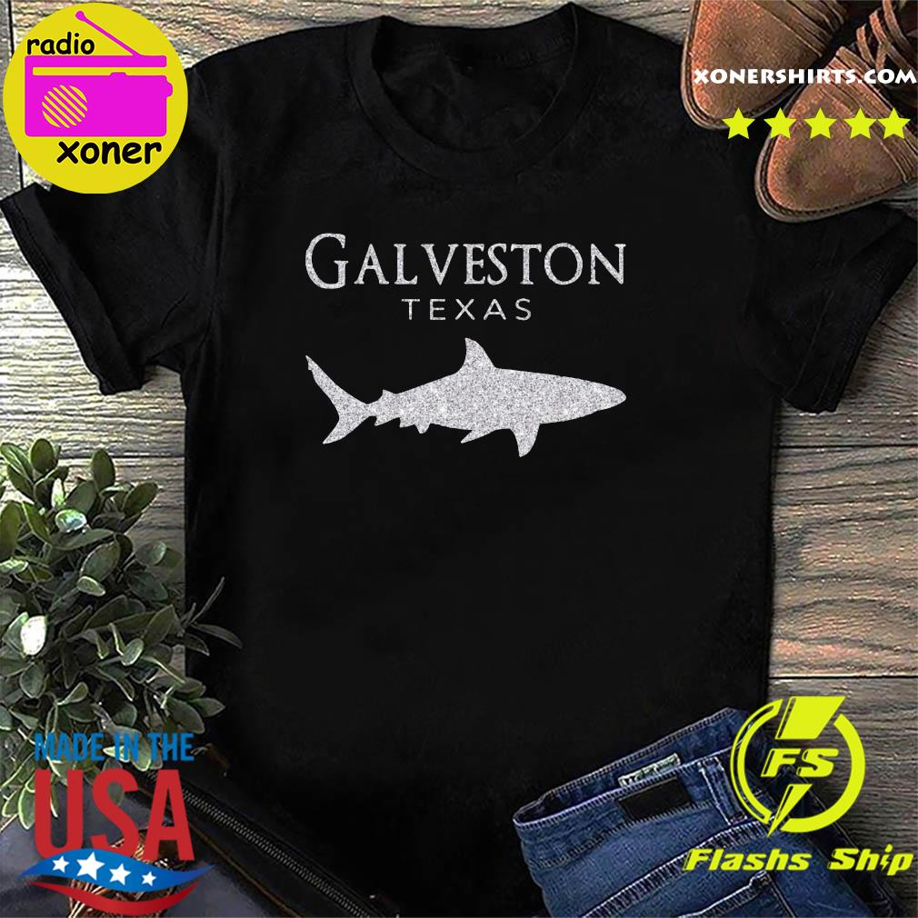 Retro Galveston TX Shark Shirt