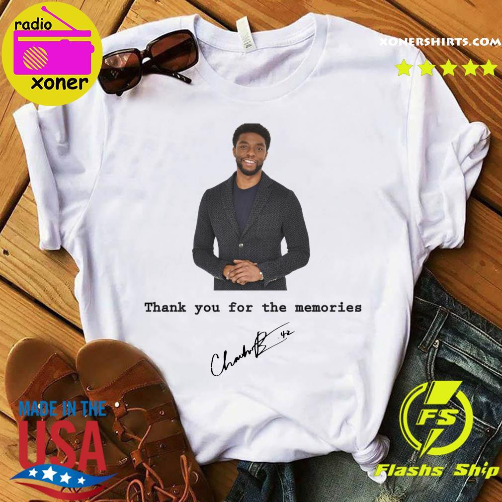 Rip Chadwick Boseman Black Panther Thank You For The Memories Signature Shirt