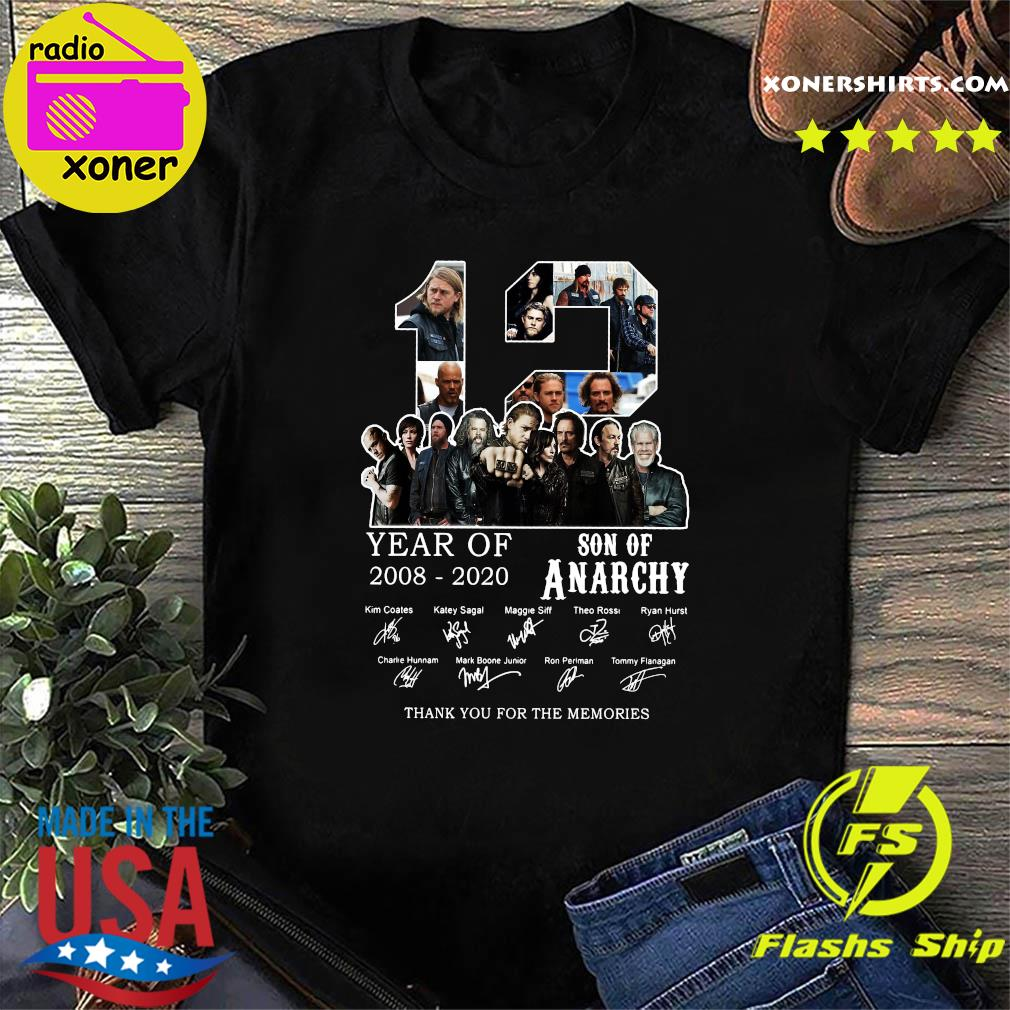 12 Year Son Of Anarchy 2008 -2020 Kim Coles Katey Sagal Maggie Siff thank shirt
