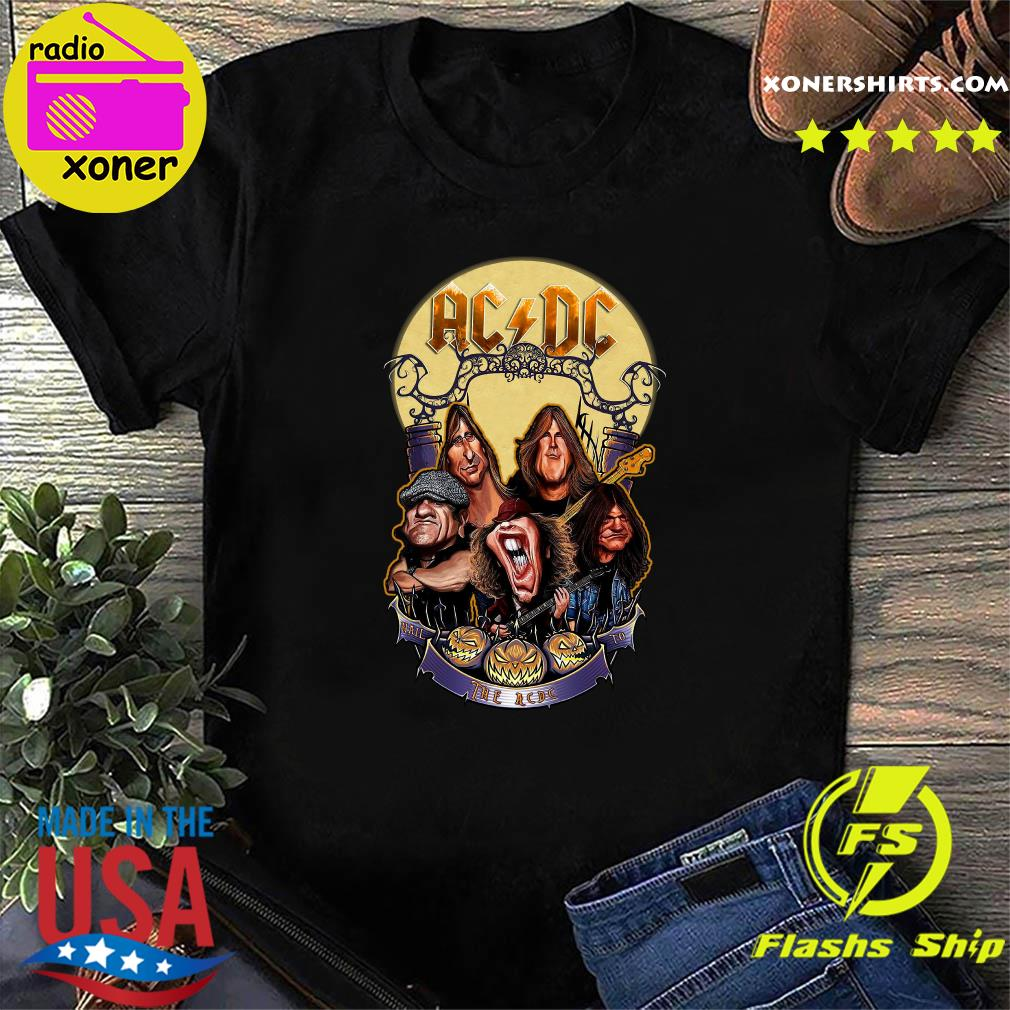 Dc Halloween 2020 Comics Ac Dc Rock Band Comic 2020 halloween Shirt, hoodie, sweater, long