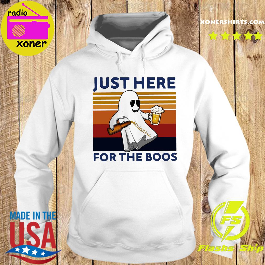 Ghost Beer Just Here For The Boos Vintage Retro Shirt Hoodie