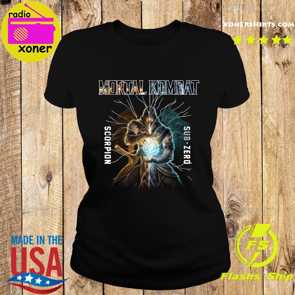 Mortal Kombat Scorpion Sub Zero Shirt Ladies tee