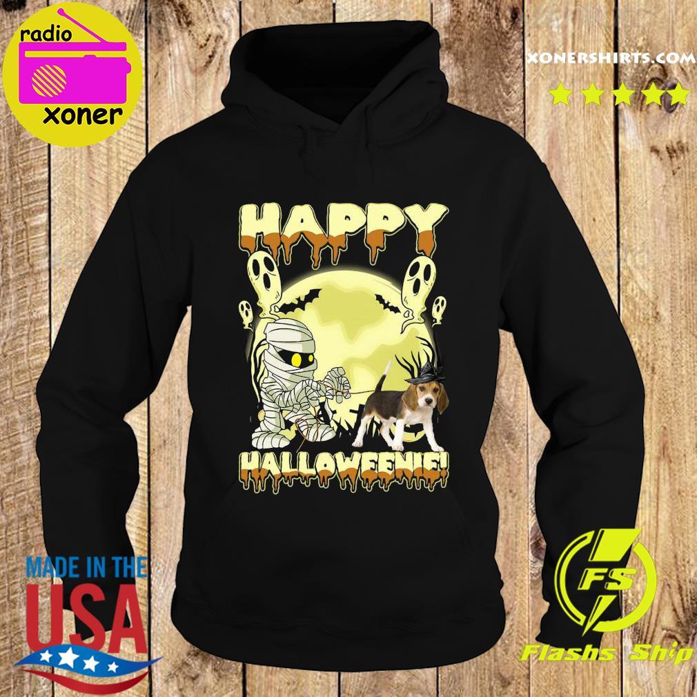 Mummies Beagle Dog Happy Halloween Moon Shirt Hoodie