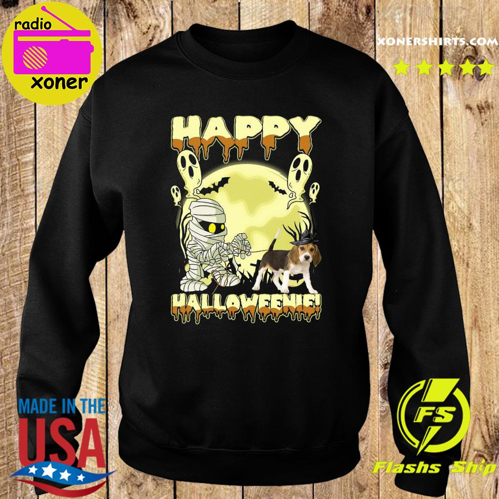 Mummies Beagle Dog Happy Halloween Moon Shirt Sweater