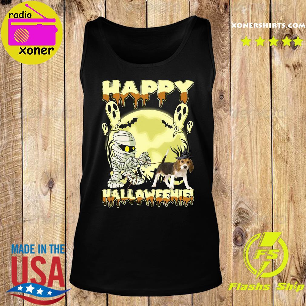 Mummies Beagle Dog Happy Halloween Moon Shirt Tank top