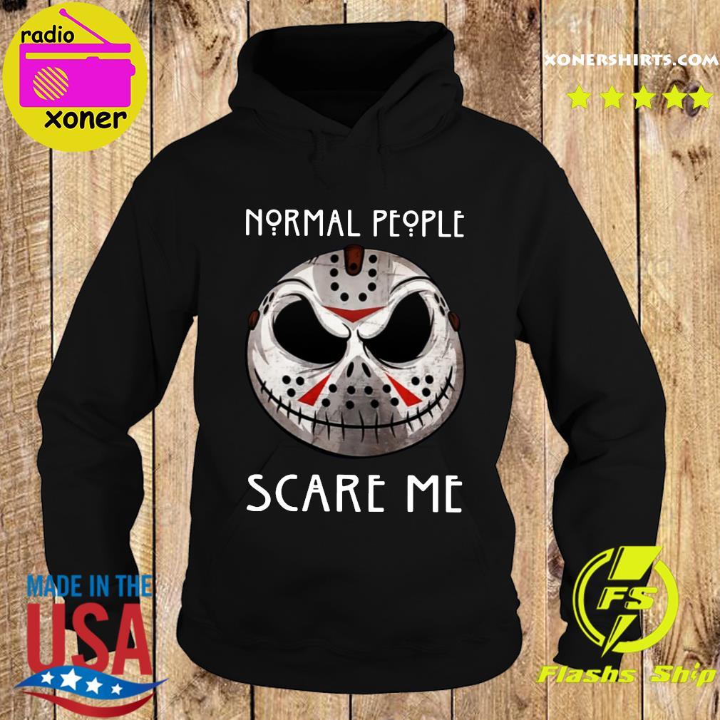 Official Jason Voorhees Jack Skellington Normal People Scare Me Shirt Hoodie