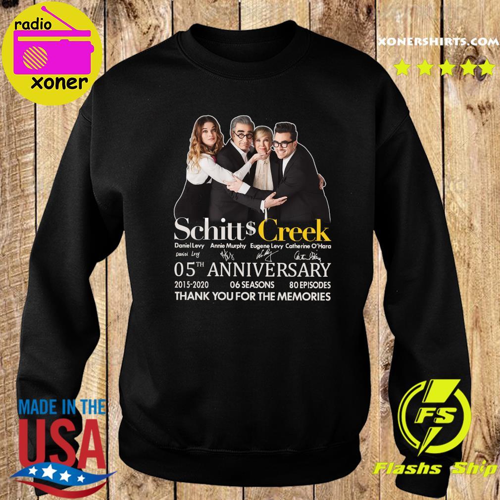 Schitt Creek 05 Anniversary 2015 2020 06 Seasons 80 Episodes Thank You For The Memories Signatures Shirt Sweater