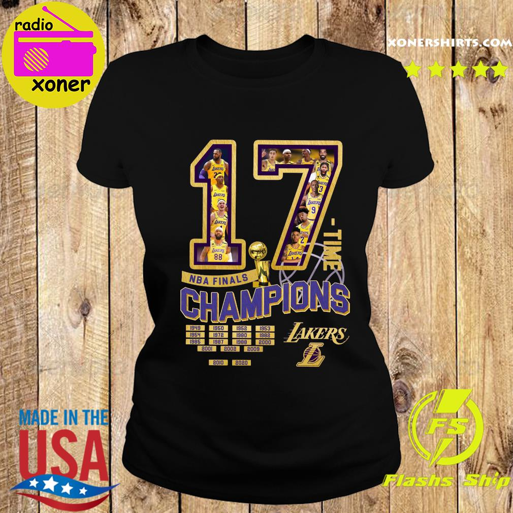 17 Nba Finals Time Champions Los Angeles Lakers Shirt Ladies tee
