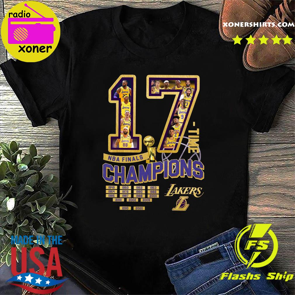 17 Nba Finals Time Champions Los Angeles Lakers Shirt