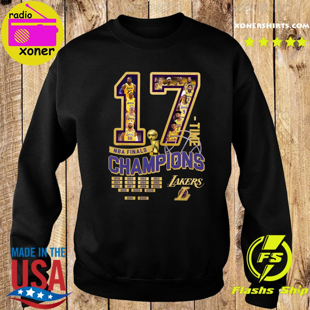 17 Nba Finals Time Champions Los Angeles Lakers Shirt Sweater
