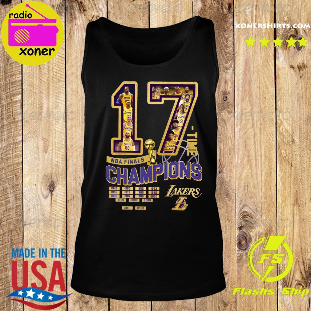 17 Nba Finals Time Champions Los Angeles Lakers Shirt Tank top