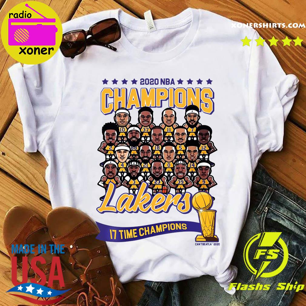 2020 NBA Champions Los Angeles Lakers 17 Time Champions Shirt